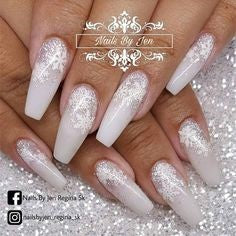 Snowflake Coffin Christmas Nail Design