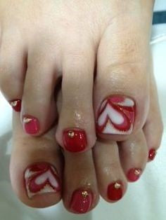 Heart Toe Nail Designs