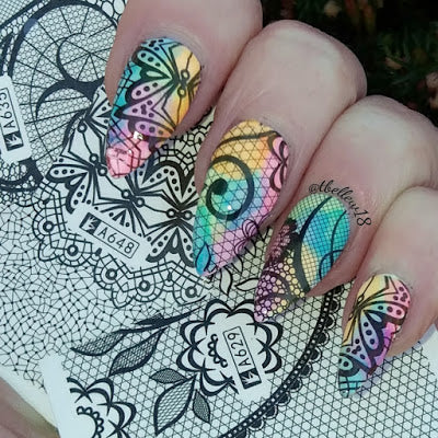 summer nail design, nail polish, nail art