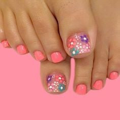 Spring Flower Toe Nail Designs