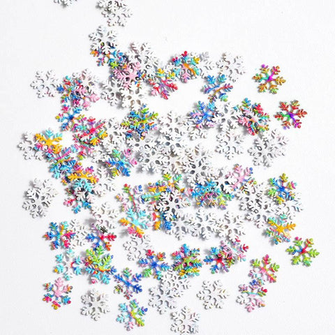 3D Metal Stickers Nail Decoration Christmas Snowflake Sequins