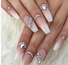 Ombre Diamonds Nail Design