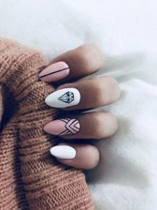 Matte Diamonds Nail Design
