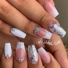 French Diamonds Nail Design