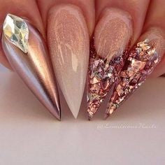 Dazzling Nails with Diamond