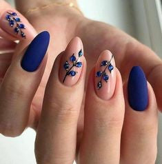 Violet Winter Nail Designs
