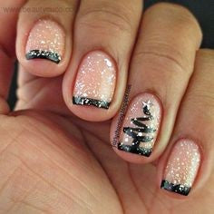 French Tip Winter Nail Designs