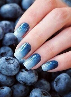 Light Purple Blueberry Winter Nail Designs