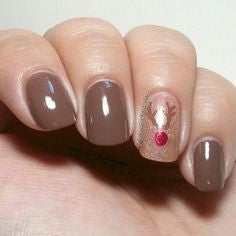 Christmas Elk Winter Nail Designs