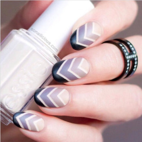 This matte chevron ombre is so cute