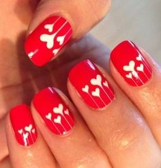 Lovely Nail Design for Valentine's Day