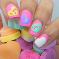 Easy Nail Design for Valentine's Day