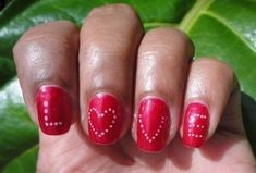 Letter Nail Design for Valentine's Day