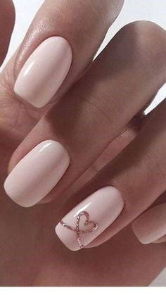 Elegant Nail Design for Valentine's Day