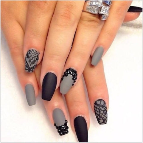 Gray and black both look great with a matte top coat
