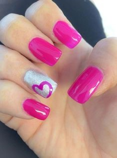 Light Pink Nail Design for Valentine's Day