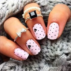 Pink Spot Nail Design for Valentine's Day