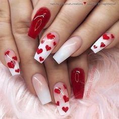 Nail Stamping Design for Valentine's Day