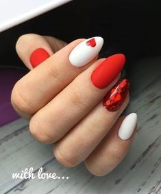 Easy Matte Nail Design for Valentine's Day