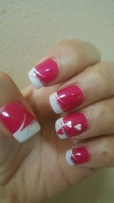 French Nail Design for Valentine's Day