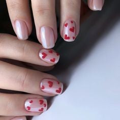 Water Decals Love Nail Design for Valentine's Day