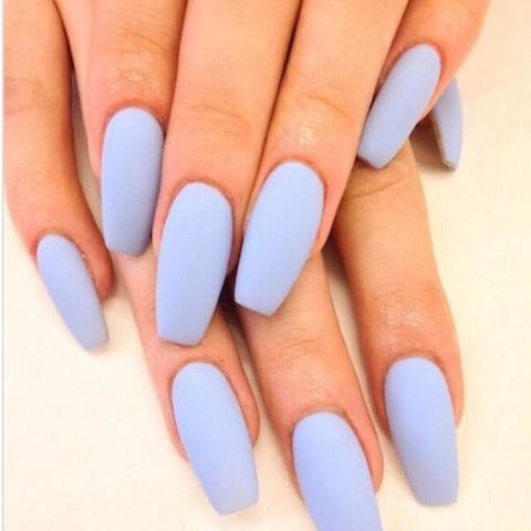 This plain polish looks so trendy with a matte top coat