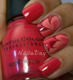 Oil Painting Nail Design for Valentine's Day
