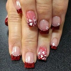 Flower Nail Design for Valentine's Day
