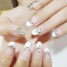 French Jewelry 3D Stickers Nail Design