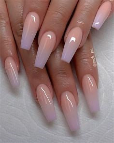 Ombre Coffin Nail Design