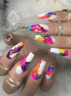 Water Decals Coffin Nail Design