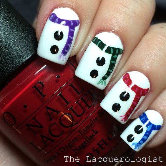Hottest 50 Christmas Nail Ideas For 2017 12