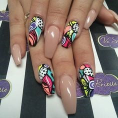 Water Decals Aztec Nail Idea