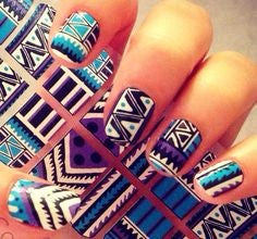 Magic Pattern Aztec Nail Idea