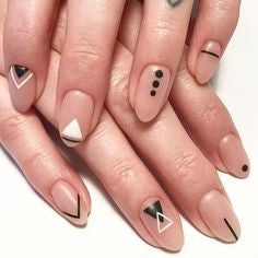 Simple shape Nude Nail Design