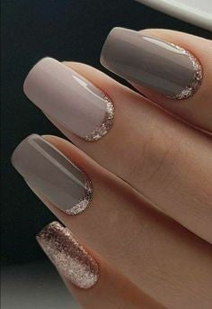 Inverted FrenchNude Nail Design