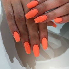 Orange Nail Art Idea
