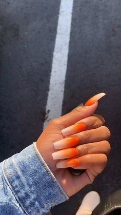 Ombre Orange Nail Idea