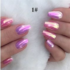 Valentine's Holographic Nail Art Idea