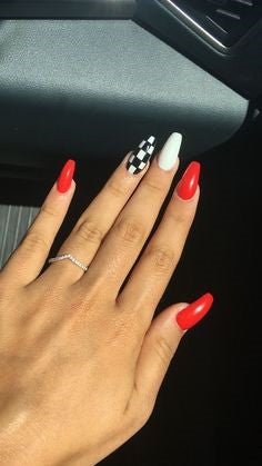 3 Color Acrylic Nail Design