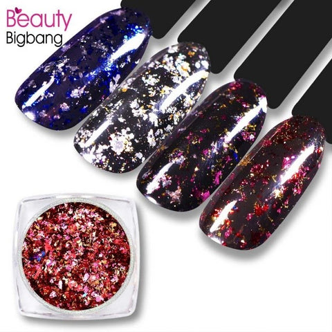 Fireworks Effect Sequin Nails