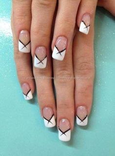 White French Tip Nail Design-15
