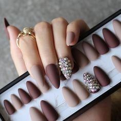 Newest Nail Designs-5 Brown nude nails