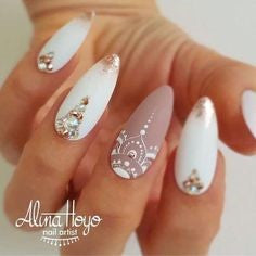 Newest Nail Designs-6 White nude nails