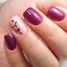 Newest Nail Designs-7 Purple nude nails