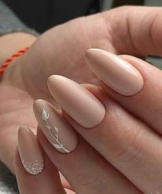 Newest Nail Designs-8 Matte nude nails