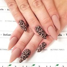 Newest Nail Designs-9 Leopard print nude nails