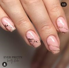 Newest Nail Designs-19 Pink Marble nails