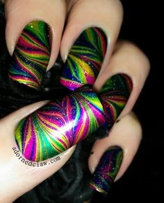 Newest Nail Designs-20 Colorful Marble nails