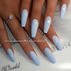 Newest Nail Designs-21 Gel Blue coffin nails
